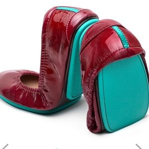 Tieks Ruby red patent leather flats size 8